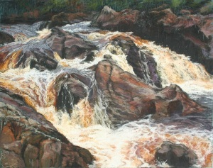 Waterfall Glen River Teelin Pastels