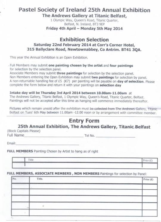 Entry Forms for Titanic Exhibition