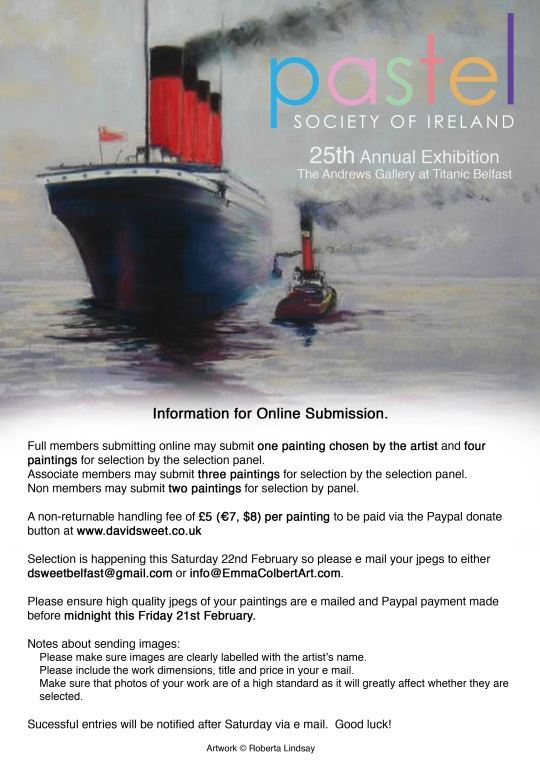 Annual Exhibition in Titanic Centre - intake Saturday 22nd 10AM
